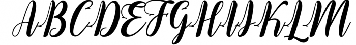 The Santinora Font UPPERCASE