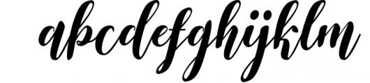 The Santinora Font LOWERCASE
