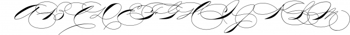 The Wedding Script & Invitation set 6 Font UPPERCASE