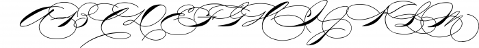 The Wedding Script & Invitation set 7 Font UPPERCASE