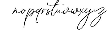 Throug Brush Font LOWERCASE