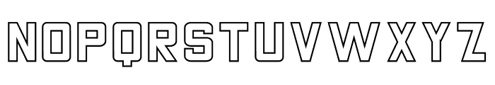 THE CHAMP Stroke Font UPPERCASE