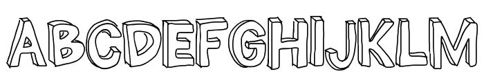 THE MILLION MILE MAN Font UPPERCASE
