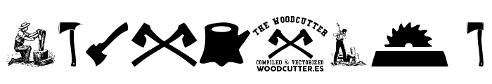 THE WOODCUTTER Font OTHER CHARS