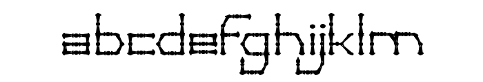THIN DECORATIVE Font LOWERCASE