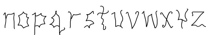 THUNDERSTORM Font LOWERCASE
