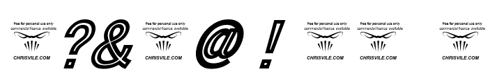 Tha Cool Kidz Black Italic Font OTHER CHARS