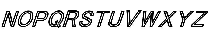 Tha Cool Kidz Black Italic Font LOWERCASE