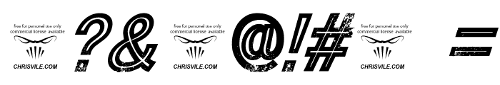 Tha Cool Kidz Italic Font OTHER CHARS