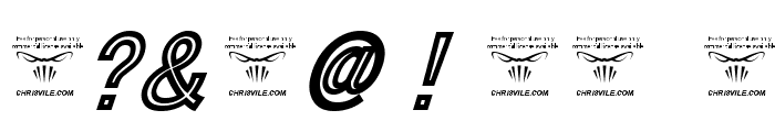 ThaCoolKidz-BlackItalic Font OTHER CHARS