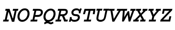 Thabit-Bold-Oblique Bold Oblique Font UPPERCASE