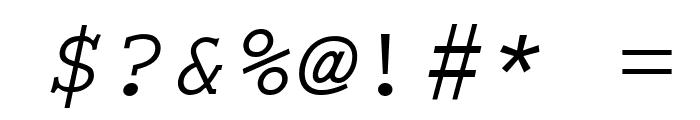 Thabit-Oblique Oblique Font OTHER CHARS