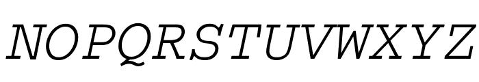 Thabit-Oblique Oblique Font UPPERCASE