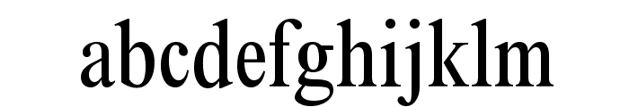 ThamesCondensed Regular Font LOWERCASE