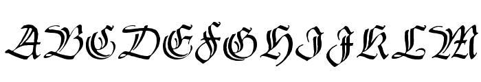 Thannhaeuser Zier Font UPPERCASE