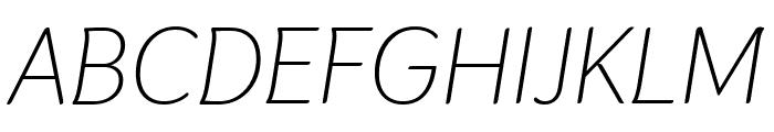 Thasadith Italic Font UPPERCASE