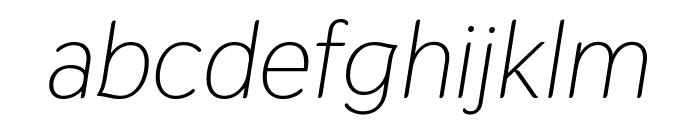 Thasadith Italic Font LOWERCASE