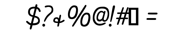 That's Font Folks! Italic Font OTHER CHARS