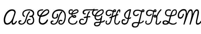 That's Font Folks! Italic Font UPPERCASE