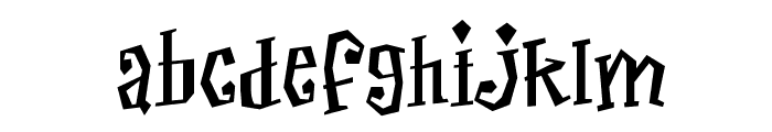 Thayer Street NDP Font LOWERCASE