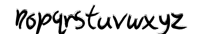 The Art Show Font LOWERCASE