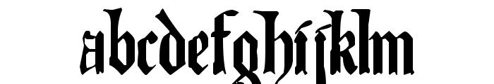 The Art of Illuminating Font LOWERCASE