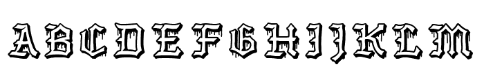 The Barrio Caps Font UPPERCASE