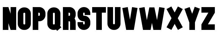 The Black Font Font UPPERCASE