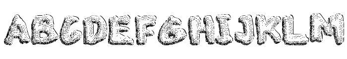 The Blob Demo Font UPPERCASE