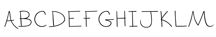 The Blurry Effect Font UPPERCASE