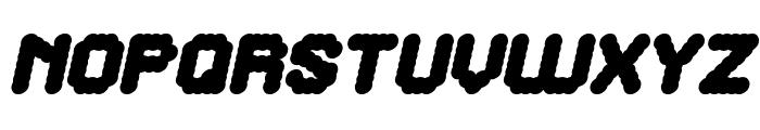 The Brain Italic Font UPPERCASE