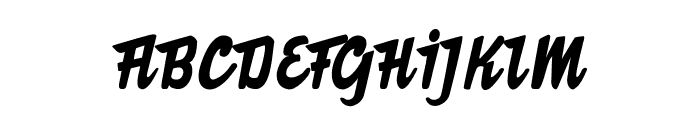 The Butcher Factory Font UPPERCASE