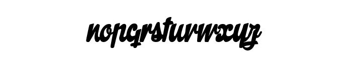 The Butcher Factory Font LOWERCASE