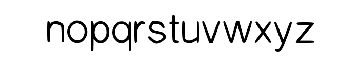The Confession Regular Font LOWERCASE