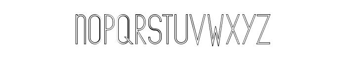 The Copenhagener Outline Font LOWERCASE