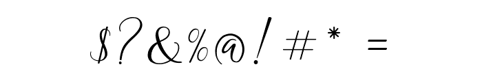 The Dance Signature Font OTHER CHARS