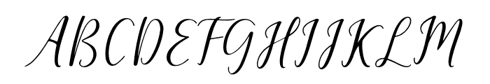 The Dance Signature Font UPPERCASE