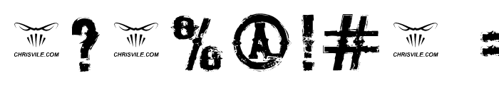 The Deadliest Saloon Font OTHER CHARS