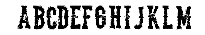 The Deadliest Saloon Font LOWERCASE