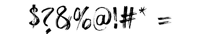 The Dolbak Brush Font OTHER CHARS