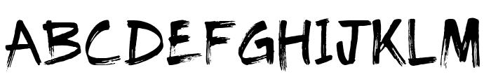 The Dolbak Brush Font UPPERCASE