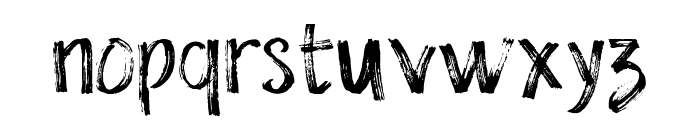 The Dolbak Brush Font LOWERCASE