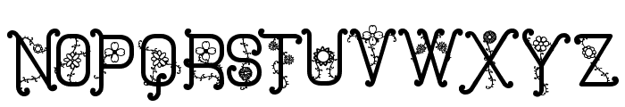 The Flowers St Font UPPERCASE