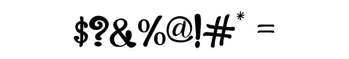 The Foughe Script Font OTHER CHARS