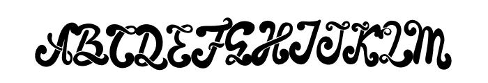 The Foughe Script Font UPPERCASE