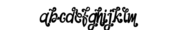 The Foughe Script Font LOWERCASE