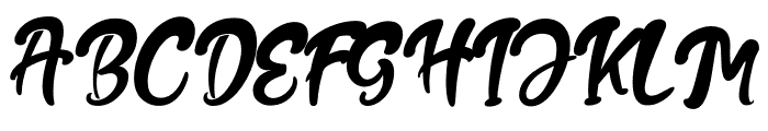 The Fox Tail Regular Font UPPERCASE