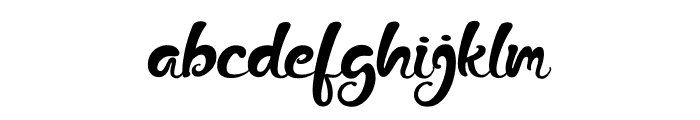 The Fox Tail Regular Font LOWERCASE