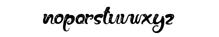 The Fox Tail Rough Font LOWERCASE