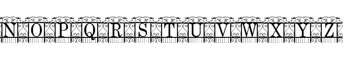 The Garden Font UPPERCASE